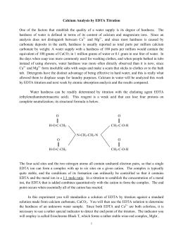 an analysis of edta titration Development and validation of a complexometric titration method for the  determination of rosuvastatin calcium in raw material mariela baldut1, silvina  l.