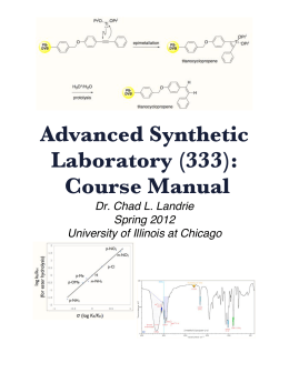 Advanced Synthetic Laboratory (333): Course