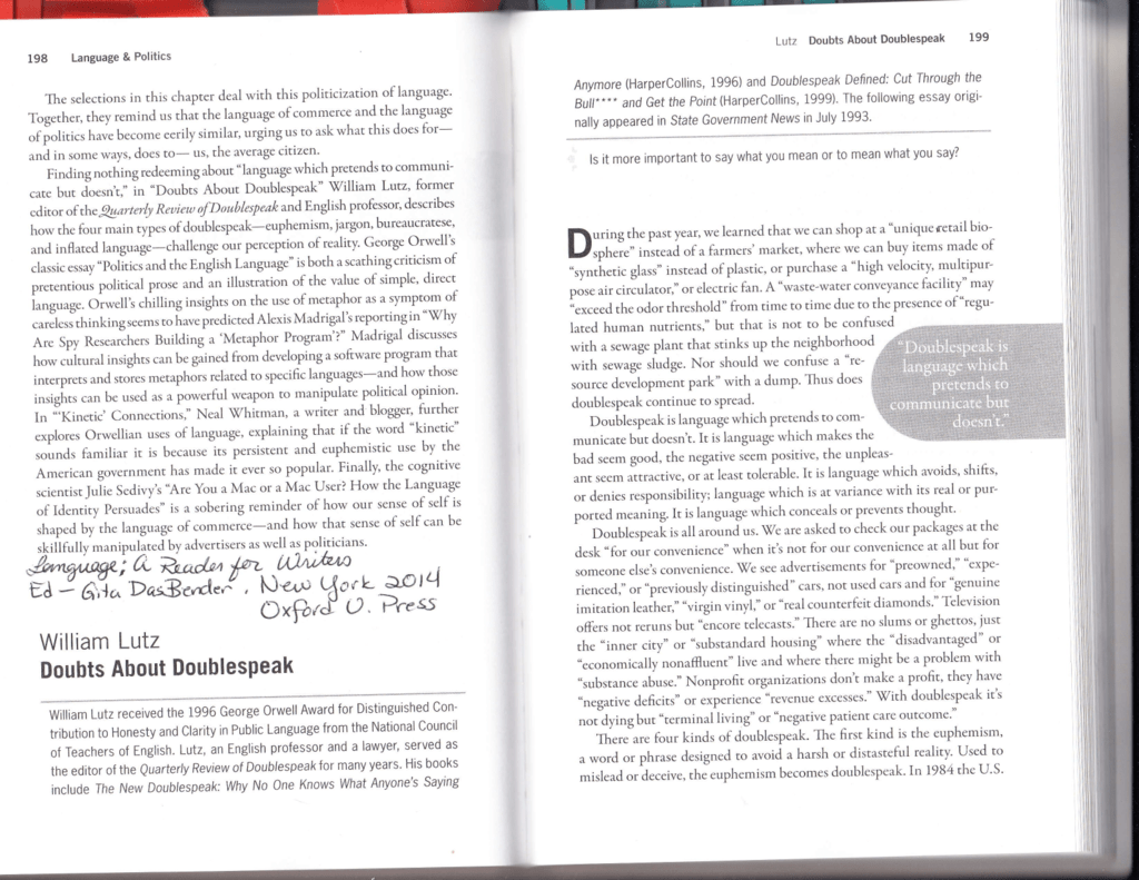 Worksheets Euphemism And Doublespeak Worksheet Answers 1 lutz doubts about doublespeak