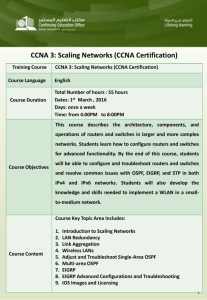 CCNA 3: Scaling Networks (CCNA Certification)