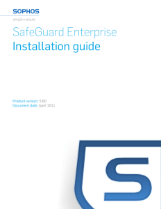SafeGuard Enterprise Installation guide