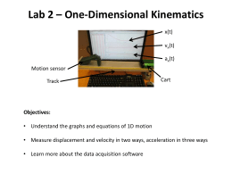 Lab 2 – One-Dimensional Kinematics
