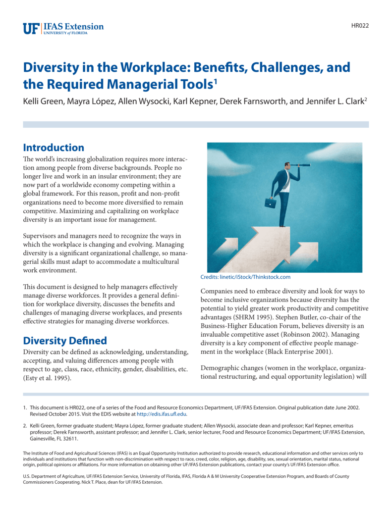 Diversity in the Workplace: Benefits, Challenges, and the