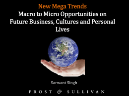 New Mega Trends Macro to Micro Opportunities on Future Business