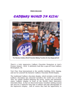 cadbury world in klia!