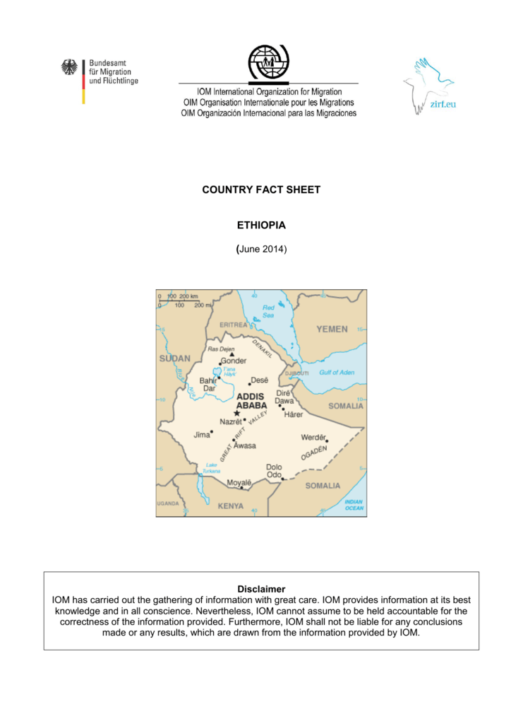 COUNTRY FACT SHEET ETHIOPIA
