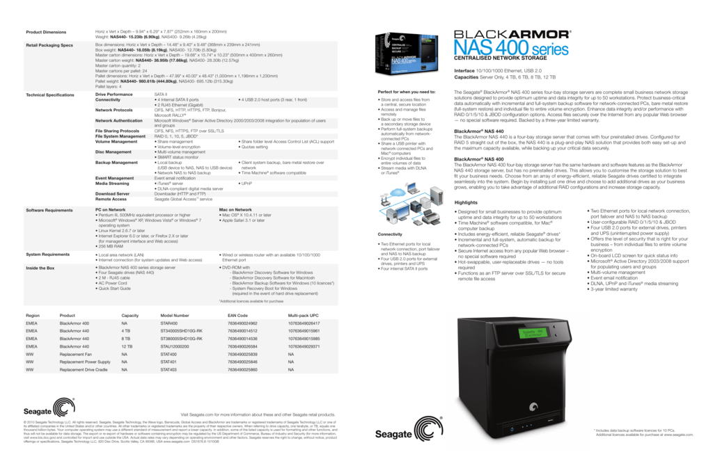 seagate blackarmor nas 400 discovery software