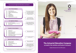 The Actuarial Education Company