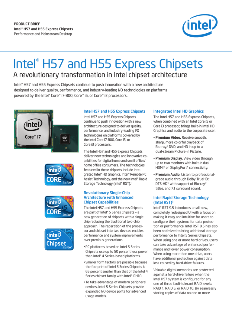 Intel h57 express chipset driver