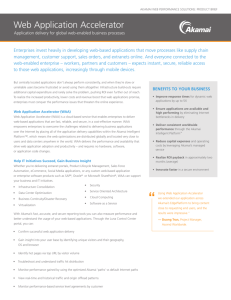AKAMAI SERVICES Table of Contents