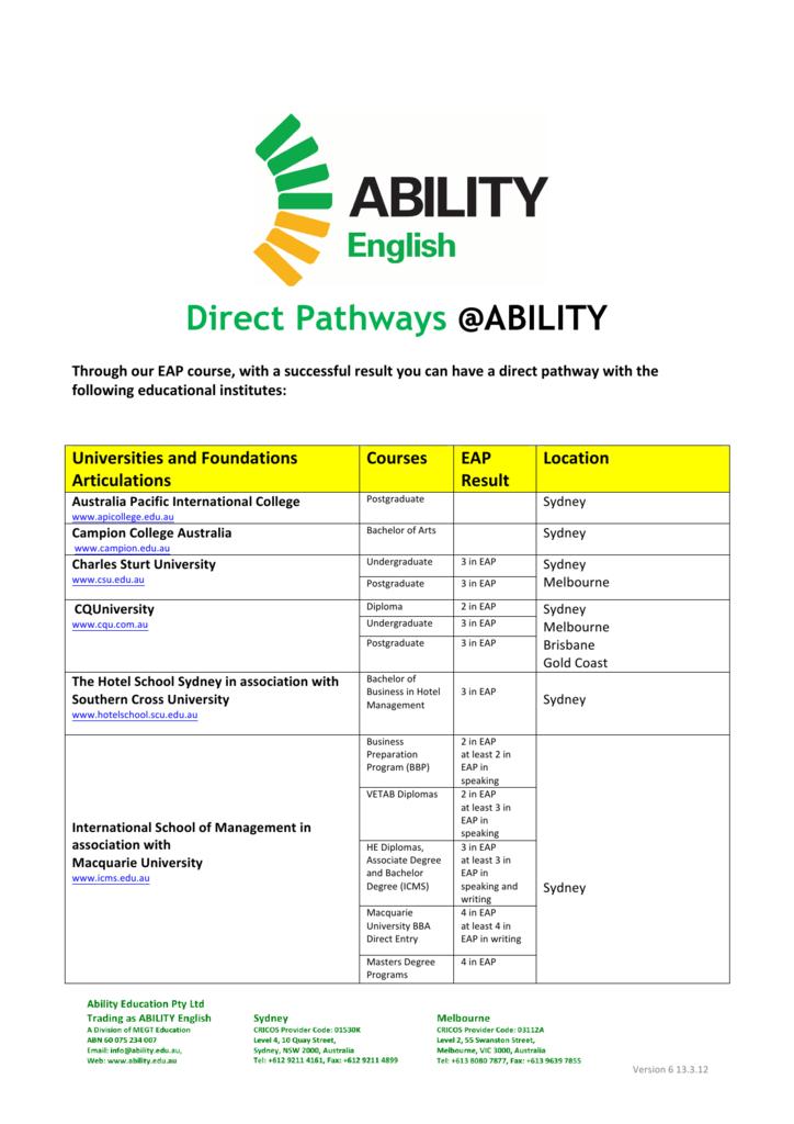 Direct Pathways @ABILITY