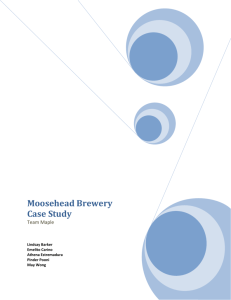 Moosehead Brewery Case Study