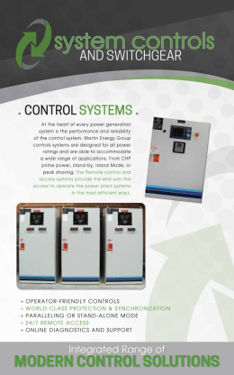 MODERN CONTROL SOLUTIONS