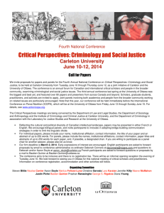 Critical Perspectives: Criminology and Social Justice