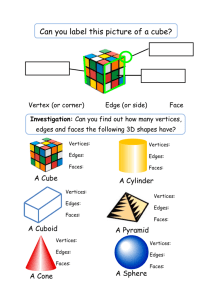 Can you label this picture of a cube?