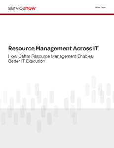 Resource Management Across IT