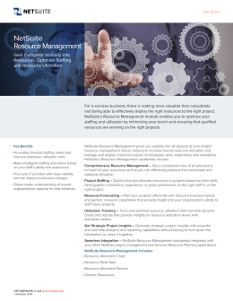 NetSuite Resource Management