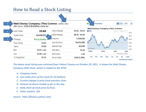 How to Read a Stock Listing