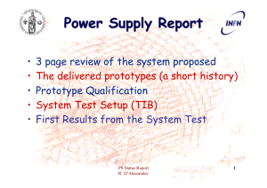 Power Supply Report