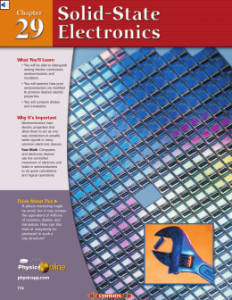 Chapter 29: Solid-State Electronics
