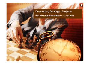 Developing Strategic Projects