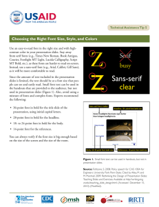 Technical Assistance Tip 5: Choosing the Right Font Size, Style, and