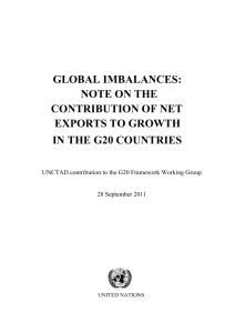 Global imbalances: Note on the contribution of net exports