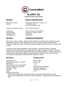 Slurry Oil - CountryMark