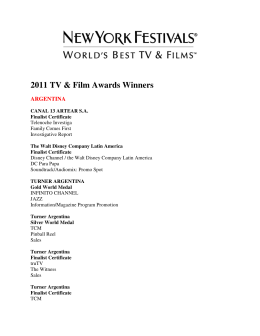 2011 Winners - New York Festivals