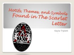 Motifs Found in The Scarlet Letter