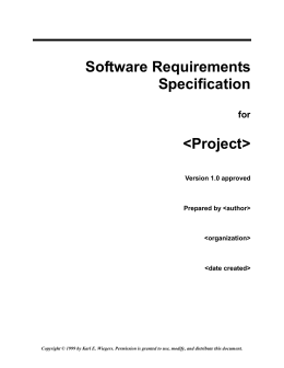 Software Requirements Specification Srs Template Items That Are