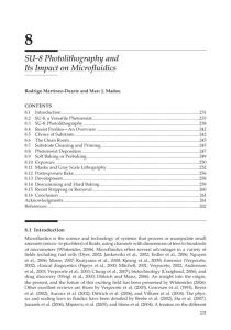 Chapter 8: SU-8 Photolithography and Its Impact on Microfluidics
