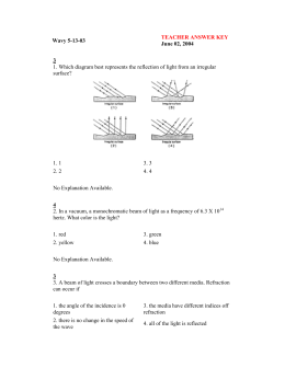 Wavy 5-13-03 TEACHER ANSWER KEY June 02, 2004 3 1. Which