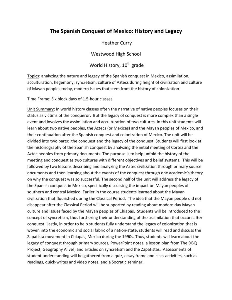 spanish conquest aztecs essay