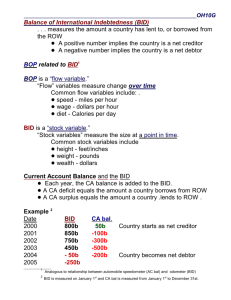 Balance of International Indebtedness (BID) . . . measures the