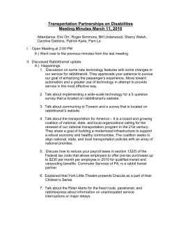 Transportation Partnerships on Disabilities Meeting Minutes March