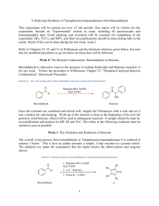 A Multi-step Synthesis of Tetraphenylcyclopentadienone from