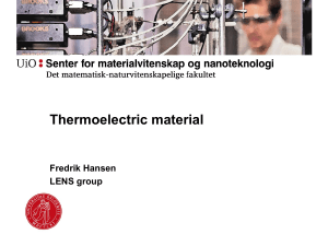 Thermoelectric material