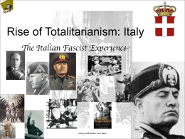 Rise of Totalitarianism: Italy