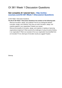 OI 361 Week 1 Discussion Questions