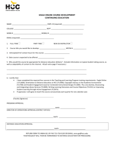 CE Course Approval Form