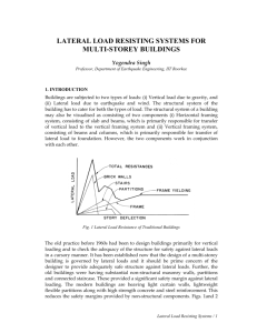 lateral load resisting systems for multi