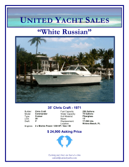 "UNITED YACHT SALES ""White Russian"" 35' Chris Craft"