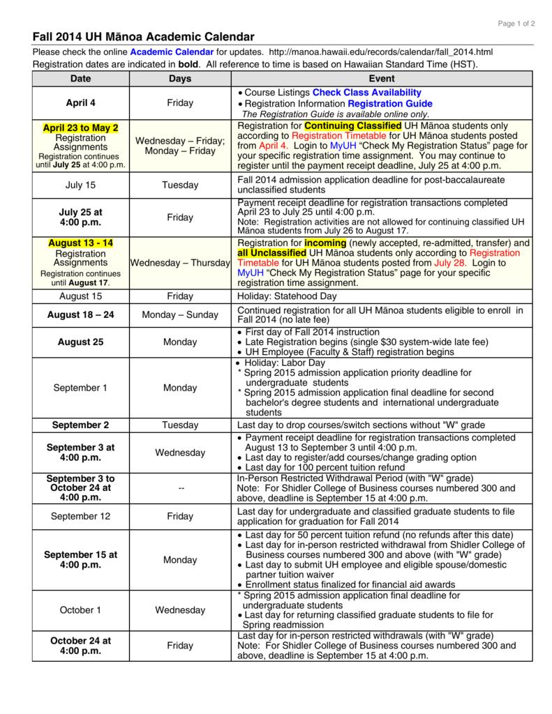 Uh Manoa Academic Calendar Fall 2022.U N I V E R S I T Y O F H A W A I I M A N O A C A L E N D A R F A L L 2 0 2 1 Zonealarm Results