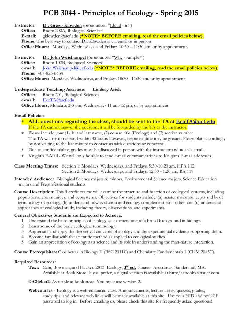 PCB - UCF Biology
