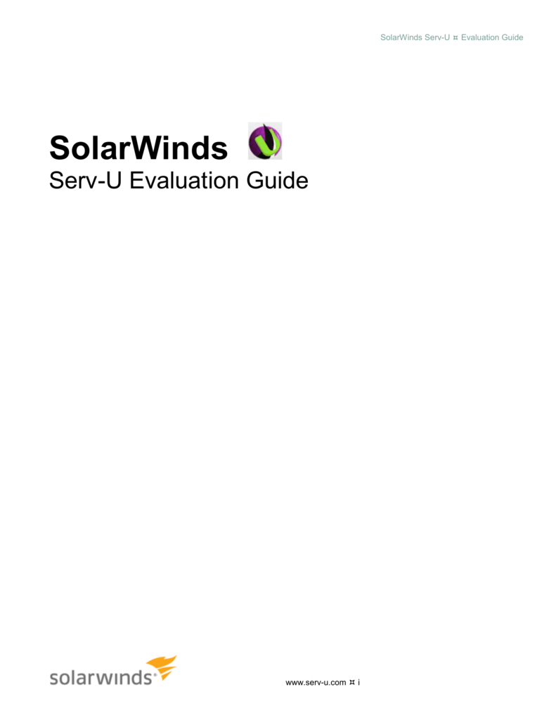 Serv u evaluation guide 1betcityfo Choice Image