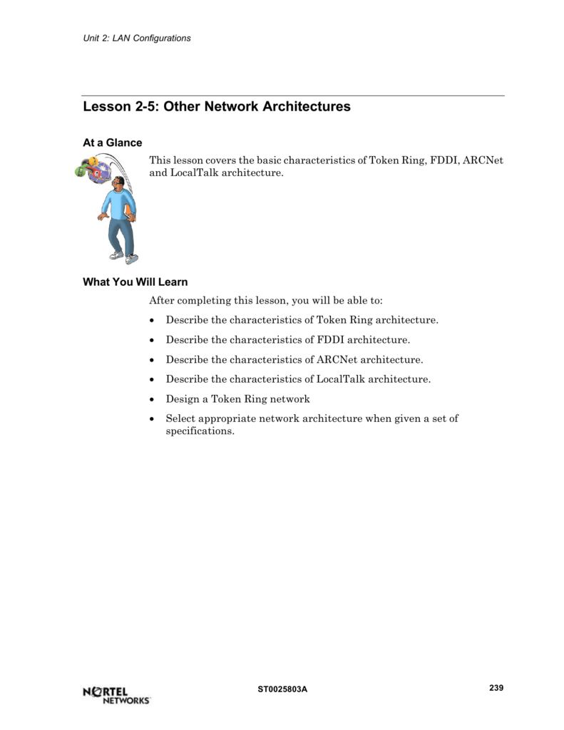 Lesson 2-5: Other Network Architectures