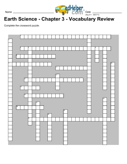 Earth Science - Chapter 3 - Vocabulary Review
