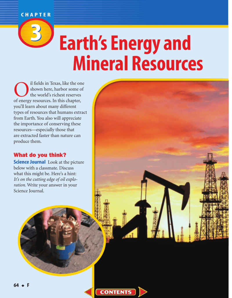 F: Chapter 3: Earth's Energy and Mineral Resources