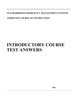 SEMS Course G606 Test Answers